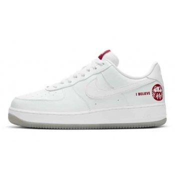 Zapatos Zapatillas bajas Nike Air Force 1 Low I Believe White/Bordeaux