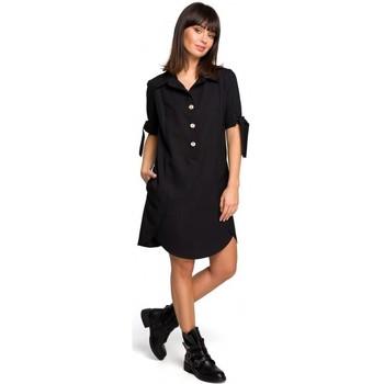 textil Mujer Túnicas Be B112 Túnica con cuello y mangas anudadas - negra