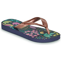 Zapatos Niña Chanclas Havaianas KIDS FLORES Marino / Oro