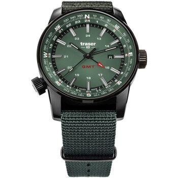 Relojes & Joyas Hombre Relojes analógicos Traser H3 109035, Quartz, 46mm, 10ATM Negro