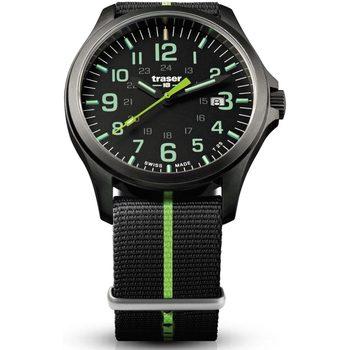 Relojes & Joyas Hombre Relojes analógicos Traser H3 107426, Quartz, 42mm, 10ATM Negro