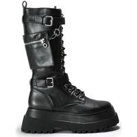 Zapatos Mujer Botas Bosanova Botas altas negras suela track NEGRO
