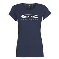 textil Mujer Camisetas manga corta G-Star Raw GRAPHIC 20 SLIM Azul