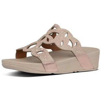 Zapatos Mujer Zuecos (Mules) FitFlop ELORA CRYSTAL SLIDES - ROSE GOLD ROSE GOLD