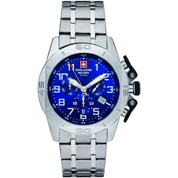 Relojes & Joyas Hombre Relojes analógicos Swiss Alpine Military 7063.9135, Quartz, 45mm, 10ATM Plata