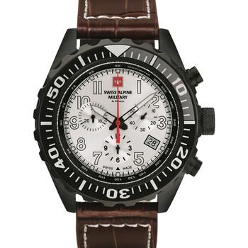 Relojes & Joyas Hombre Relojes analógicos Swiss Alpine Military 7076.9572, Quartz, 44mm, 10ATM Negro