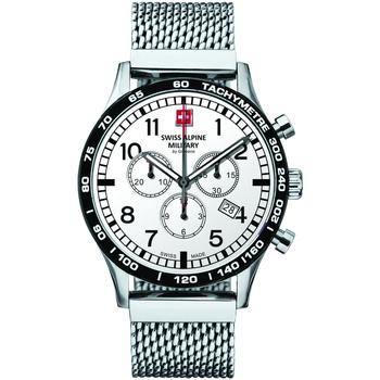 Relojes & Joyas Hombre Relojes analógicos Swiss Alpine Military 1746.9132, Quartz, 43mm, 10ATM Plata
