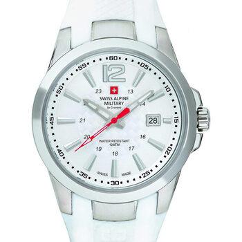 Relojes & Joyas Hombre Relojes analógicos Swiss Alpine Military 7058.1833, Quartz, 43mm, 10ATM Plata