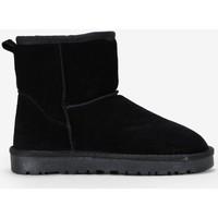 Zapatos Mujer Botas de nieve Bosanova Botines negros serraje piel NEGRO