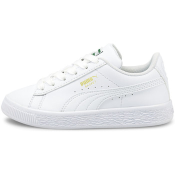 Zapatos Niños Zapatillas bajas Puma Basket classic xxi ps Blanco