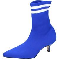 Zapatos Mujer Botines Olga Rubini Botines Textil Azul