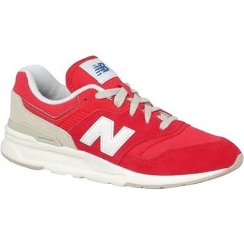 Zapatos Niños Zapatillas bajas New Balance 997 Blanco, Rojos