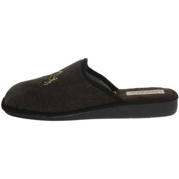 Zapatos Hombre Pantuflas Uomodue LORD-5 Marrón