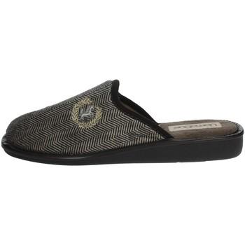 Zapatos Hombre Pantuflas Uomodue LOGO HORSE-44 Marrón Taupe
