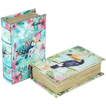 Casa Baúles, cajas de almacenamiento Signes Grimalt Caja Libro Set 2 Unidades Multicolor