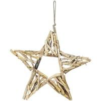Casa Decoraciones de Navidad Signes Grimalt Estrella Con Madera Dorado