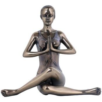 Casa Figuras decorativas Signes Grimalt Yoga- Pose De Vaca Dorado