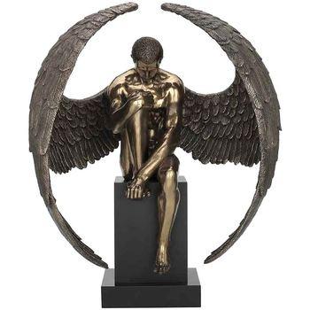 Casa Figuras decorativas Signes Grimalt Ángel Desnudo Pedestal Dorado