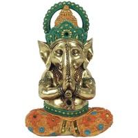 Casa Figuras decorativas Signes Grimalt Ganesha Yoga Dorado
