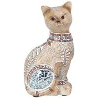 Casa Figuras decorativas Signes Grimalt Gato Pequeño Con Espejos Marrón