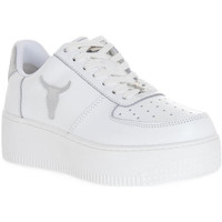 Zapatos Mujer Deportivas Moda Windsor Smith RICH BRAVE WHITE SILVER PERLISHED Bianco