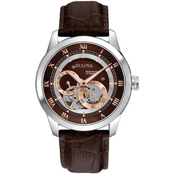 Relojes & Joyas Hombre Relojes analógicos Bulova 96A120, Automatic, 42mm, 3ATM Plata