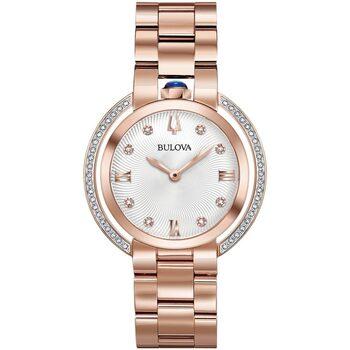 Relojes & Joyas Mujer Relojes analógicos Bulova 98R248, Quartz, 35mm, 3ATM Oro