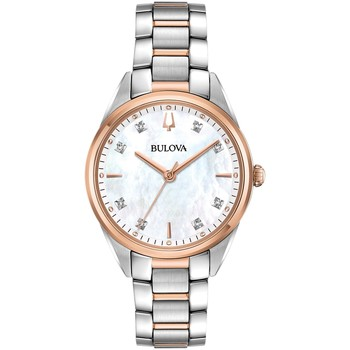 Relojes & Joyas Mujer Relojes analógicos Bulova 98P183, Quartz, 34mm, 3ATM Oro