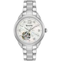 Relojes & Joyas Mujer Relojes analógicos Bulova 96P181, Automatic, 34mm, 3ATM Plata