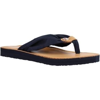 Zapatos Mujer Sandalias Tommy Hilfiger LEATHER FOOTBED BEACH SA Azul