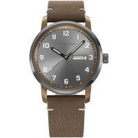Relojes & Joyas Hombre Relojes analógicos Wenger 01.1541.123, Quartz, 42mm, 10ATM Marrón