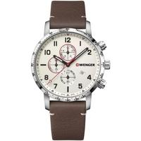 Relojes & Joyas Hombre Relojes analógicos Wenger 01.1543.113, Quartz, 44mm, 10ATM Plata
