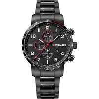 Relojes & Joyas Hombre Relojes analógicos Wenger 01.1543.115, Quartz, 44mm, 10ATM Negro