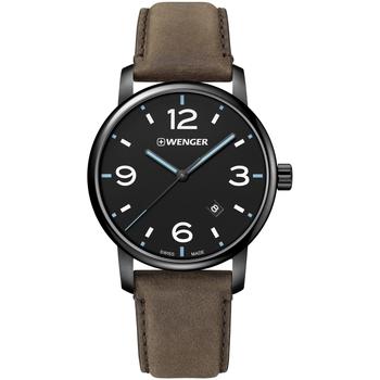 Relojes & Joyas Hombre Relojes analógicos Wenger 01.1741.135, Quartz, 44mm, 10ATM Negro