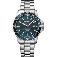 Relojes & Joyas Hombre Relojes analógicos Wenger 01.0641.129, Quartz, 43mm, 20ATM Plata