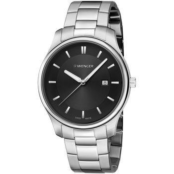 Relojes & Joyas Hombre Relojes analógicos Wenger 01.1441.104, Quartz, 43mm, 3ATM Plata