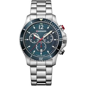 Relojes & Joyas Hombre Relojes analógicos Wenger 01.0643.115, Quartz, 43mm, 20ATM Plata