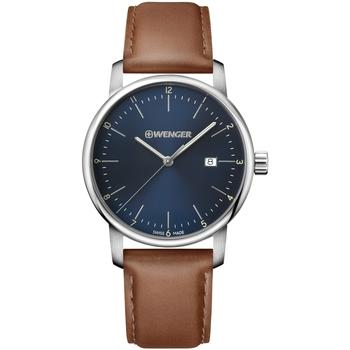 Relojes & Joyas Hombre Relojes analógicos Wenger 01.1741.111, Quartz, 44mm, 10ATM Plata