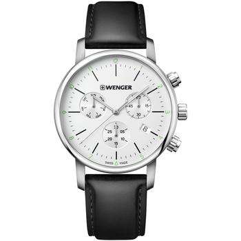 Relojes & Joyas Hombre Relojes analógicos Wenger 01.1743.118, Quartz, 44mm, 10ATM Plata
