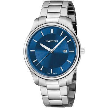 Relojes & Joyas Hombre Relojes analógicos Wenger 01.1441.117, Quartz, 43mm, 3ATM Plata