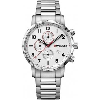 Relojes & Joyas Hombre Relojes analógicos Wenger 01.1543.110, Quartz, 44mm, 10ATM Plata