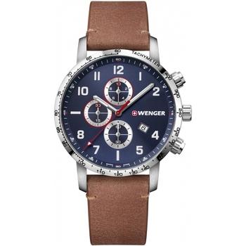 Relojes & Joyas Hombre Relojes analógicos Wenger 01.1543.108, Quartz, 44mm, 10ATM Plata
