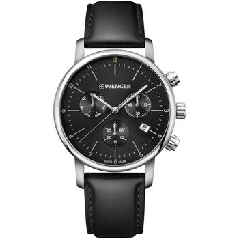 Relojes & Joyas Hombre Relojes analógicos Wenger 01.1743.102, Quartz, 44mm, 10ATM Plata
