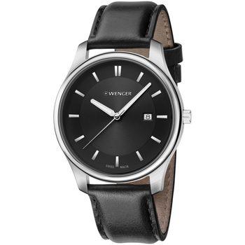 Relojes & Joyas Hombre Relojes analógicos Wenger 01.1441.101, Quartz, 43mm, 3ATM Plata