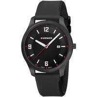 Relojes & Joyas Hombre Relojes analógicos Wenger 01.1441.111, Quartz, 43mm, 3ATM Negro