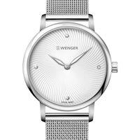Relojes & Joyas Mujer Relojes analógicos Wenger 01.1721.107, Quartz, 35mm, 10ATM Plata