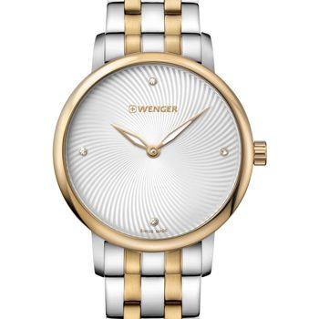 Relojes & Joyas Mujer Relojes analógicos Wenger 01.1721.104, Quartz, 35mm, 10ATM Plata