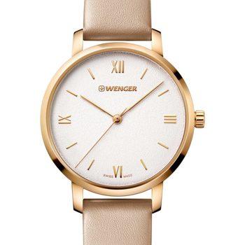 Relojes & Joyas Mujer Relojes analógicos Wenger 01.1731.105, Quartz, 38mm, 10ATM Oro