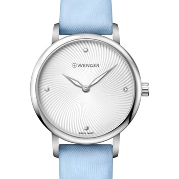 Relojes & Joyas Mujer Relojes analógicos Wenger 01.1721.108, Quartz, 35mm, 10ATM Plata