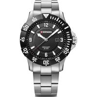 Relojes & Joyas Hombre Relojes analógicos Wenger 01.0641.131, Quartz, 43mm, 20ATM Plata